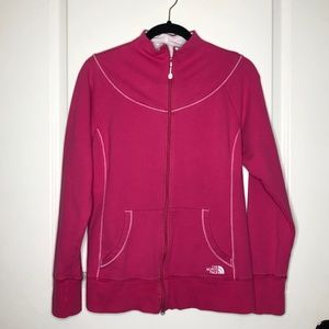 The North Face Pink Zip-Up Jacket Size L